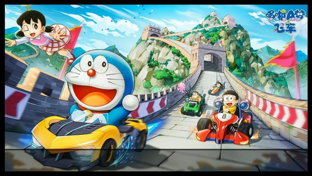 Doraemon Speeding Car