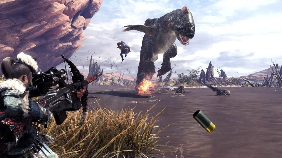Monster Hunter World แจกให้เล่นกันไปเลยฟรีบน PS4!!